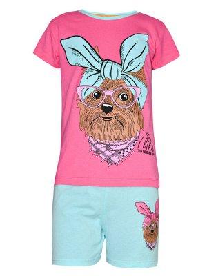 Комплект футболка и шорты для девочек арт. МД 005-20