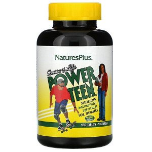 Nature's Plus, Source of Life, Power Teen, питательная добавка для подростков, 180 таблеток