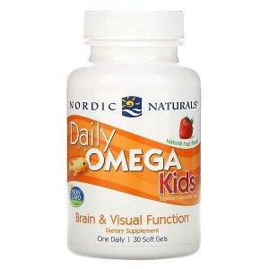 Nordic Naturals, омега для детей, для ежедневного употребления, со вкусом натуральных фруктов, 500 мг, 30 капсул