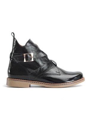 Ботинки женские демисезонные, черный лак