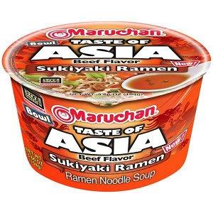 Лапша быстрого приготовления Маручан Боул Тэйст с азиатским вкусом сукияки - 94.2g