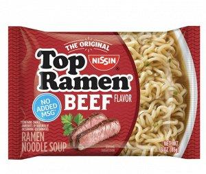 Лапша быстрого приготовления NISSIN Top Ramen  с говядиной 85 гр..
