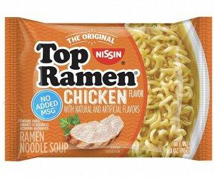 Лапша быстрого приготовления NISSIN Top Ramen  с курицей 85 гр..