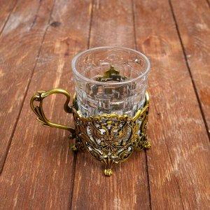 Подстаканник со стаканом «Царь», 180 мл