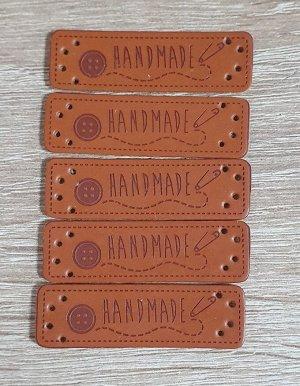 Нашивка кожзам HandMade 15*51мм набор 5шт
