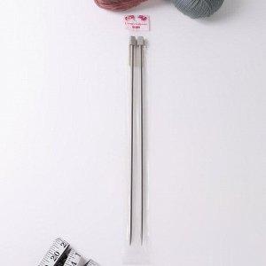 Спицы для вязания, прямые, d = 5 мм, 35 см, 2 шт