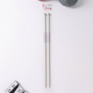 Спицы для вязания, прямые, с тефлоновым покрытием, d = 5 мм, 35 см, 2 шт