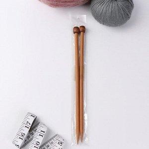 Спицы для вязания, прямые, d = 8 мм, 25 см, 2 шт