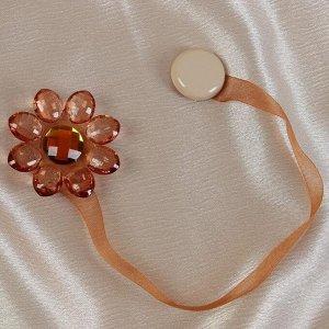 Подхват для штор «Цветок». 6 ? 6 см. цвет коричневый