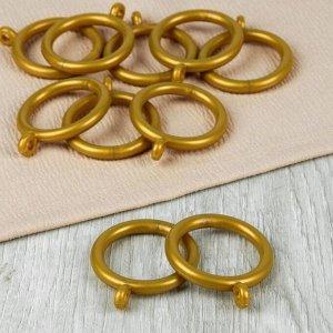 Кольцо для карниза, d = 35/46 мм, 10 шт, цвет золотой