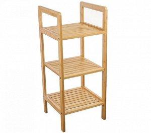 Этажерка Этажерка 3-х секц прямоуг №4 бамбук 30*30*70,5см