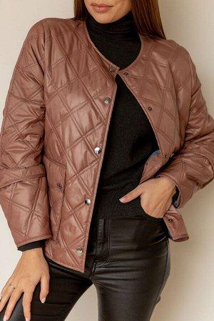 Куртка Куртка Temper 387 №2  Состав: ПЭ-100%; Сезон: Весна Рост: 164  Куртка стеганная (утеплитель изософт) горловина круглой формы, с центральной застежкой на кнопки, в нижней части полочки карманы