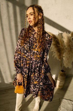 Платье Платье Pur Pur 01-866/5  Состав: Вискоза-15%; ПЭ-85%; Сезон: Весна Рост: 170  Коллекция Pur Pur 2021.