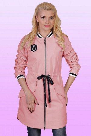 Пудровый Плащ-бомбер стал популярной одеждой в молодежной среде. Но не только юные девушки, а и дамы вполне солидного возраста не прочь включить такой плащ в свой гардероб. Центральная застежка на мол