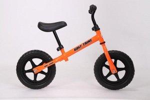 Детский 2-х колесный самокат с седлом GOLF TRIKE S10 оранжевый