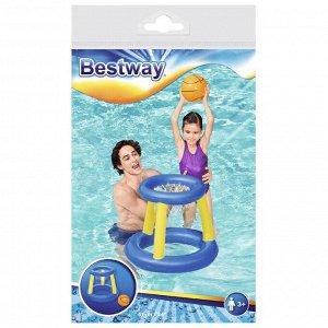 Набор для игр на воде «Баскетбол», d=61 см, корзина, мяч, от 3 лет, 52190 Bestway