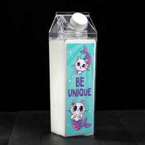 Бутылка «Будь уникальна», 550 мл