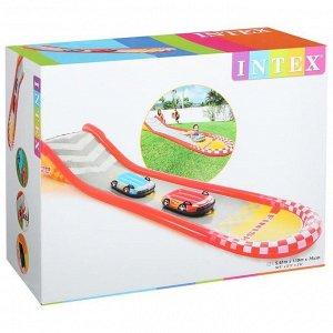 Надувная гоночная трасса, 561 х 119 х 76 см, с 2-мя машинами, 100 кг, от 6 лет, 57167NP INTEX