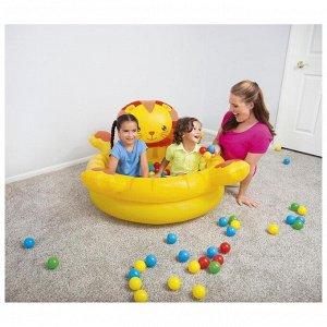 Бассейн надувной «Лев», 111 x 98 x 61,5 см, с мячами, 52261 Bestway