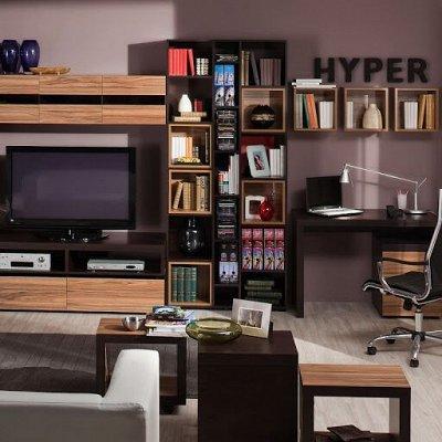 Классический и современный стиль. Мебель для каждого! — Гостиная HYPER (Палисандр темный - Венге) — Мебель