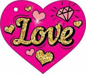 """Мини-открытка (подвеска) """"LOVE"""""""