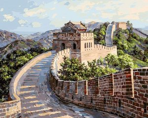 Набор для творчества Белоснежка картина по номерам на холсте Великая Китайская стена 40 на 50 см2