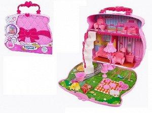 Игровой набор Abtoys В гостях у куклы Домик-сумка для куклы с аксессуарами1091