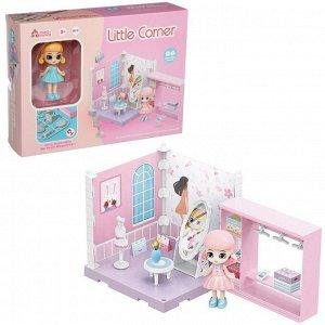 Игровой набор ABtoys Модульный домик (собери сам), 1 секция. Мини-кукла в гардеробной комнате, в наборе с аксессуарами93