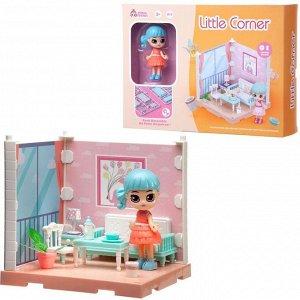 Игровой набор ABtoys Модульный домик (собери сам), 1 секция. Мини-кукла в гостинной, в наборе с аксессуарами72