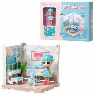 Игровой набор ABtoys Модульный домик (собери сам), 1 секция. Мини-кукла в музыкальной комнате, в наборе с аксессуарами75