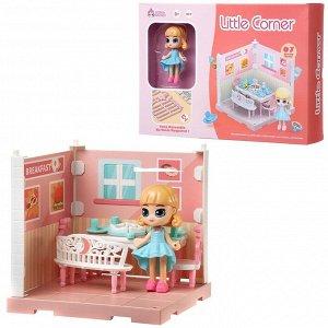 Игровой набор ABtoys Модульный домик (собери сам), 1 секция. Мини-кукла в столовой, в наборе с аксессуарами71