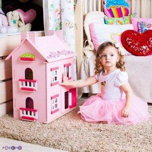 """Дом кукольный PAREMO большой из дерева для кукол """"Милана"""" с 15 предметами мебели1"""