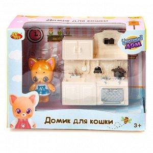 Игровой набор ABtoys Уютный дом Домик для кошки малый. Кухня23