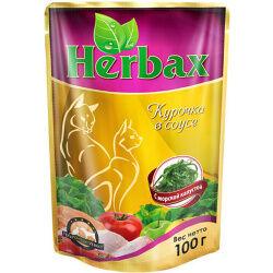 Herbax пауч 100гр д/кош Курица/Морская капуста/Соус (1/24)