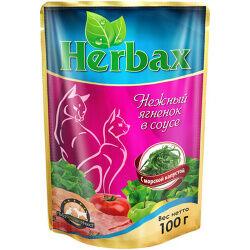 Herbax пауч 100гр д/кош Ягненок/Морская капуста/Соус (1/24)