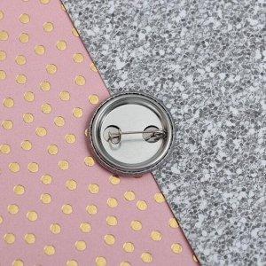 Набор: резинки и значок «8 мур-р-р-та!», 6 х 9,8 см