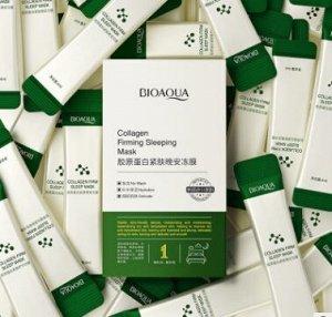 Ночная маска-желе с коллагеном и центеллой bioaqua collagen firming sleeping mask (4мл*1шт)