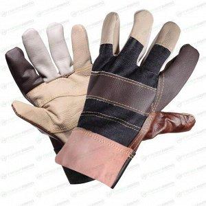 Перчатки AIRLINE комбинированные, натуральная кожа/хлопок, размер XL