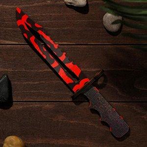 Сувенир деревянный «Штык нож», красные узоры