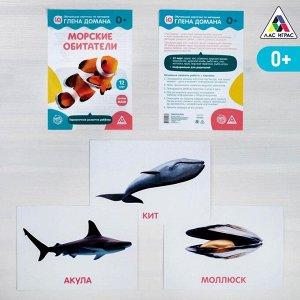 Обучающие карточки по методике Глена Домана «Морские обитатели», 12 карт, А5