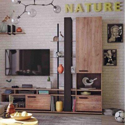Классический и современный стиль. Мебель для каждого! — Гостиная Nature(Дуб табачный Craft-Черный) — Мебель