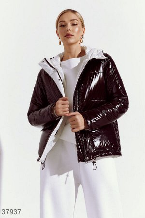 Стеганая куртка с контрастным подкладом