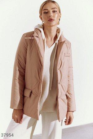 Бежевая куртка-жакет