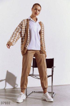 Замшевые брюки-джоггеры