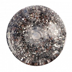 Декоративные блёстки LU*ART Lu*Glitter (сухие), размер 0,4 мм, 20 мл, серебро крупное