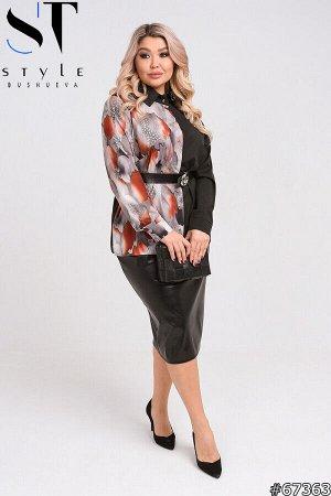 Костюм 67363 (рубашка+юбка)
