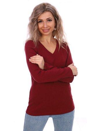 Блуза женская, бордовый