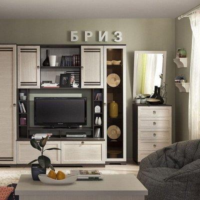 Классический и современный стиль. Мебель для каждого! — Гостиная Бриз (Ясень Анкор темный-Бодега Светлый) — Мебель