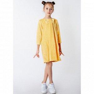 Платье велюр 218В5 для девочки