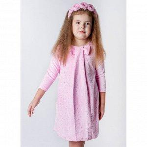 Платье велюр 218В4 для девочки